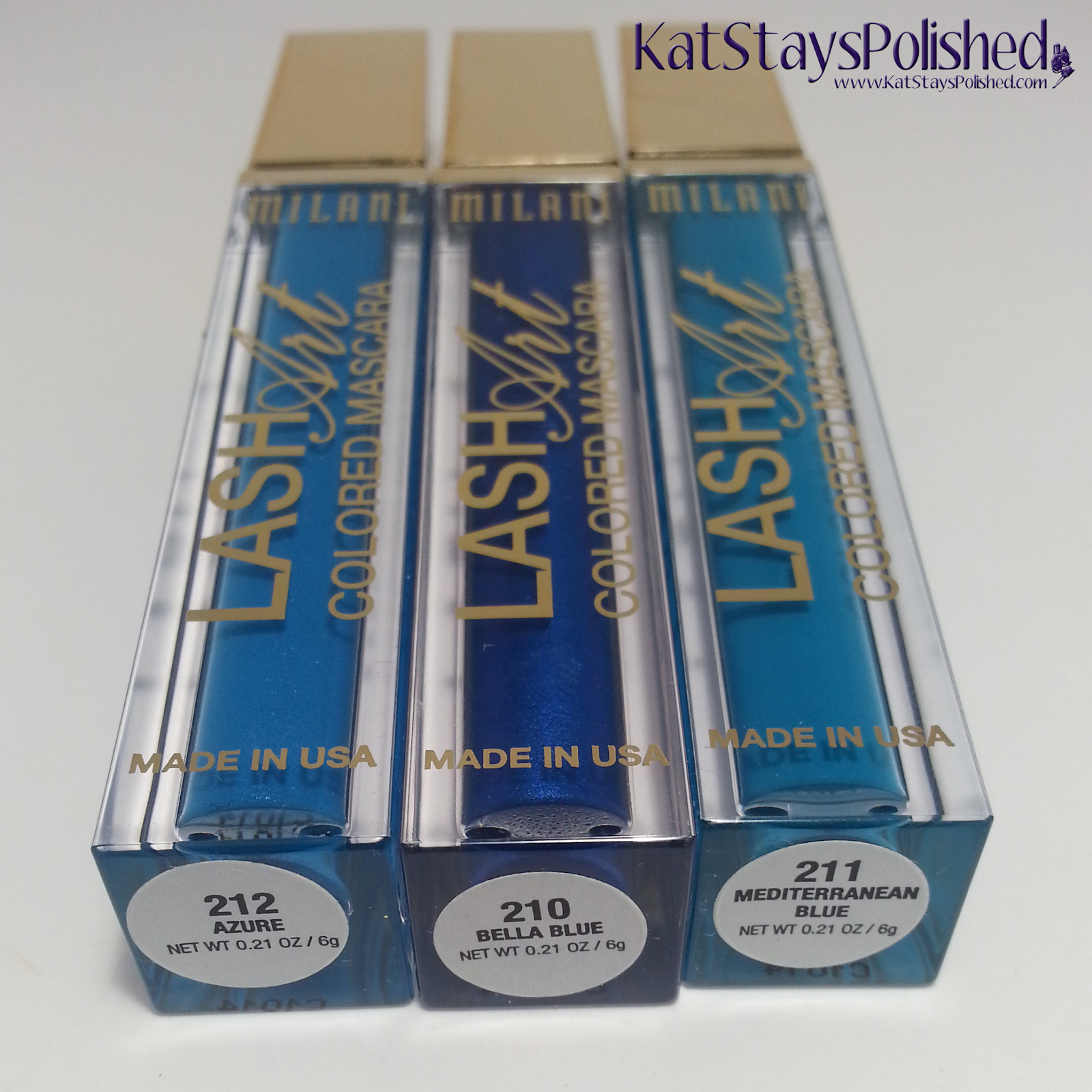 Milani Bella Blue Collection - Lash Art Colored Mascara | Kat Stays Polished