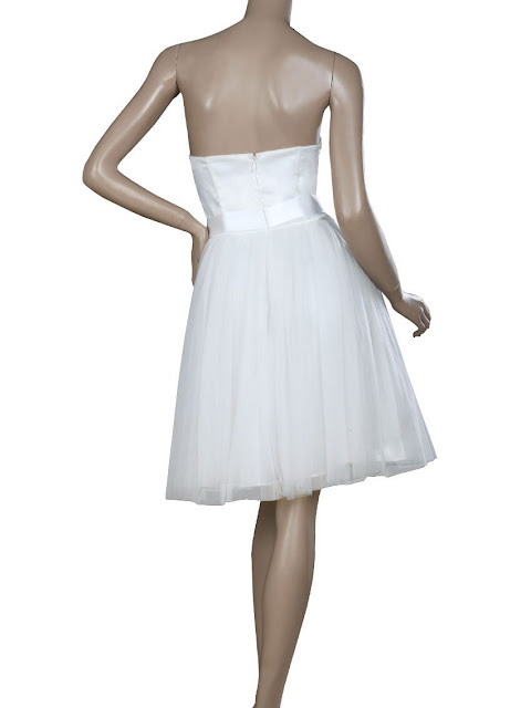 Padded Bow Short Wedding Dresses