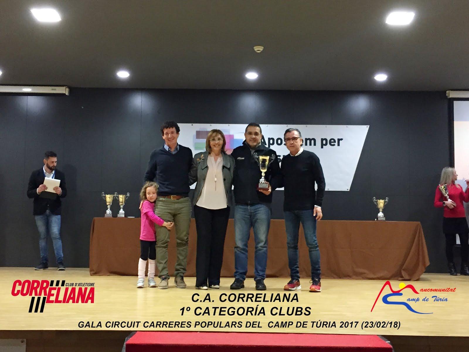 CLUB CAMPIÓ CIRCUIT CARRERES POPULARS DEL CAMP DE TÚRIA 2017