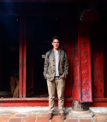 Caleb at the temple of literature in Hanoi, Vietnam