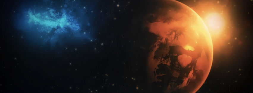 Planet galaxy facebook cover