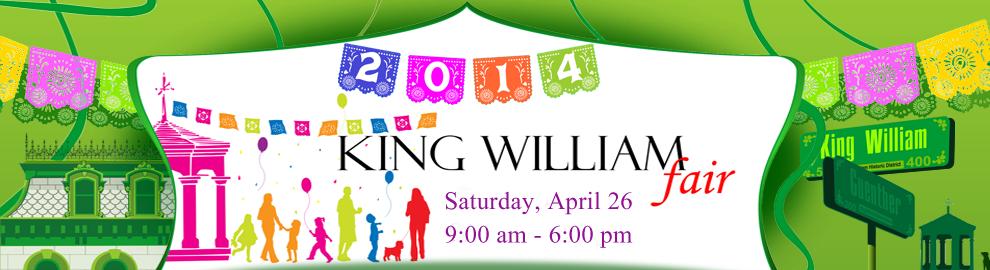 Find us at the King William Fair in San Antonio on April 26th 2014, booth #K210.