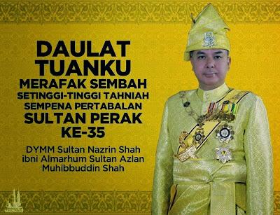 Live Streaming Istiadat Pertabalan DYMM Sultan Perak 6 Mei 2015