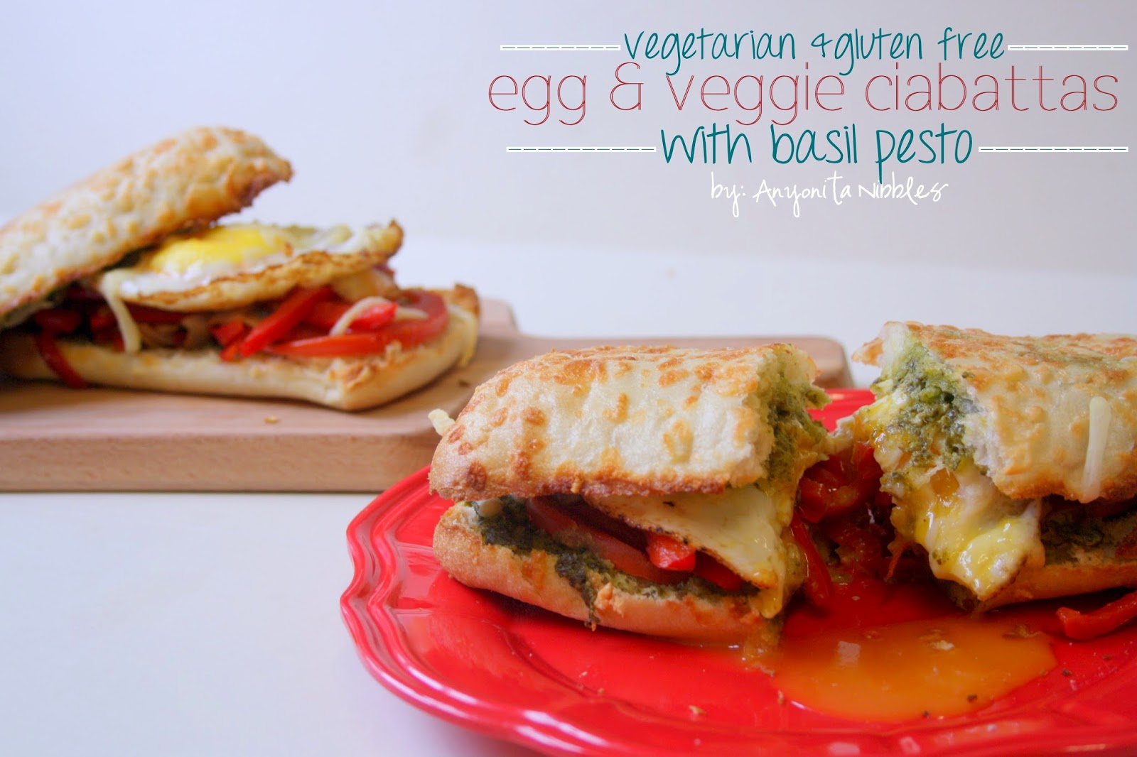 This is how celiacs do convenience food: 10 minute vegetable and egg ciabatta sandwiche