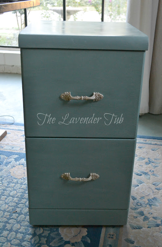 The Lavender Tub: Chalk Painted Filing Cabinet