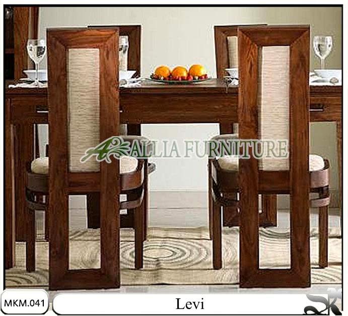 Kursi dan meja makan minimalis Levi