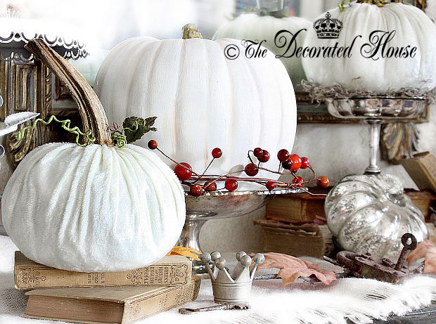 The Decorated House - Fall Decorating White Pumpkins