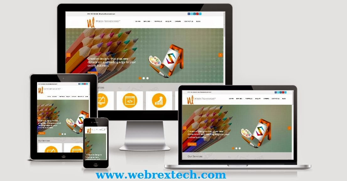 Webrex technologies Responcive website Design