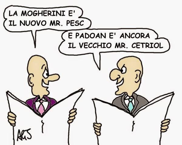 Mogherini, Padoan