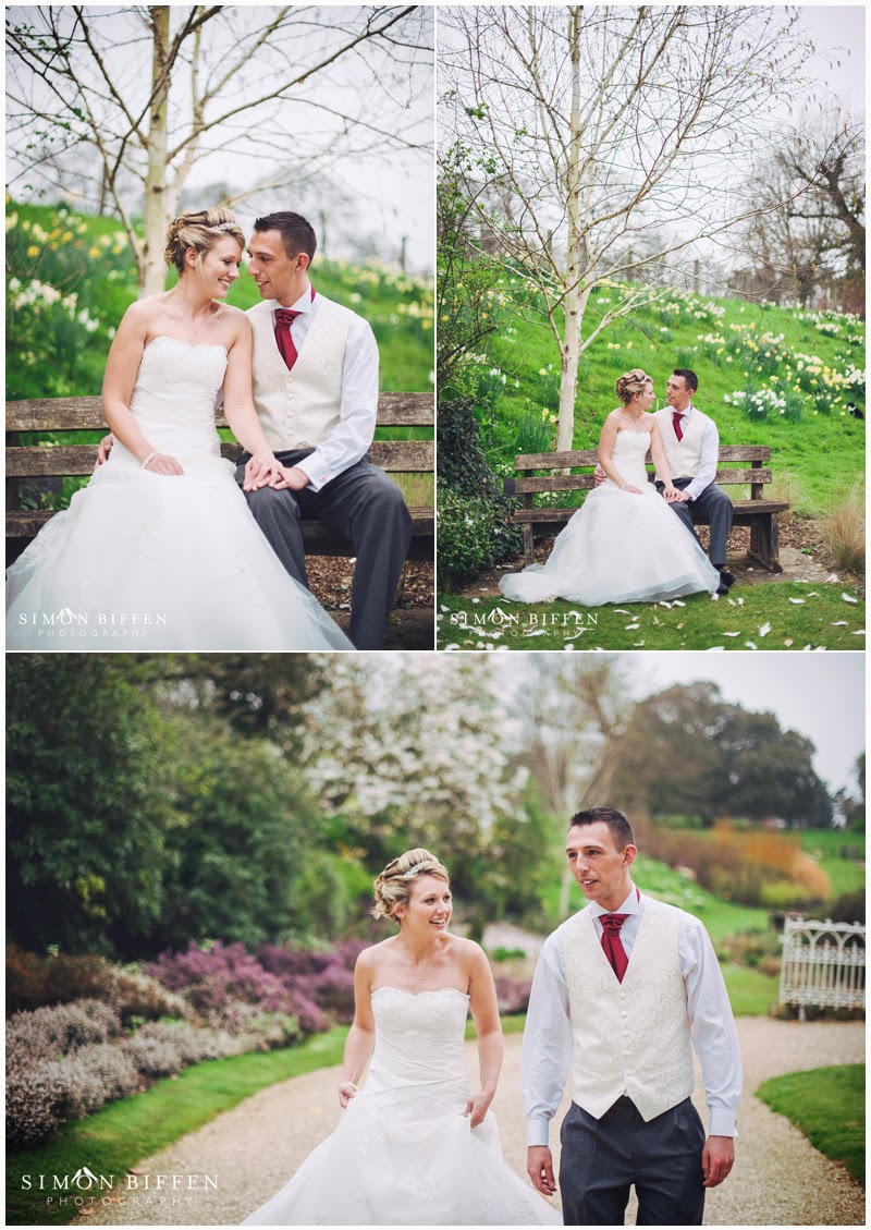 Bride and Groom in the gardens at Dillington House