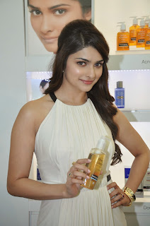 Prachi Desai looks awesome in Beautiful White Dress promoting Neutrogena Products In Mumbai