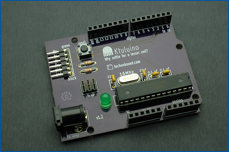 Techunboxed ktuluino how to build your own arduino clone