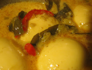 Padang Style Eggs Curry Kalio Telor