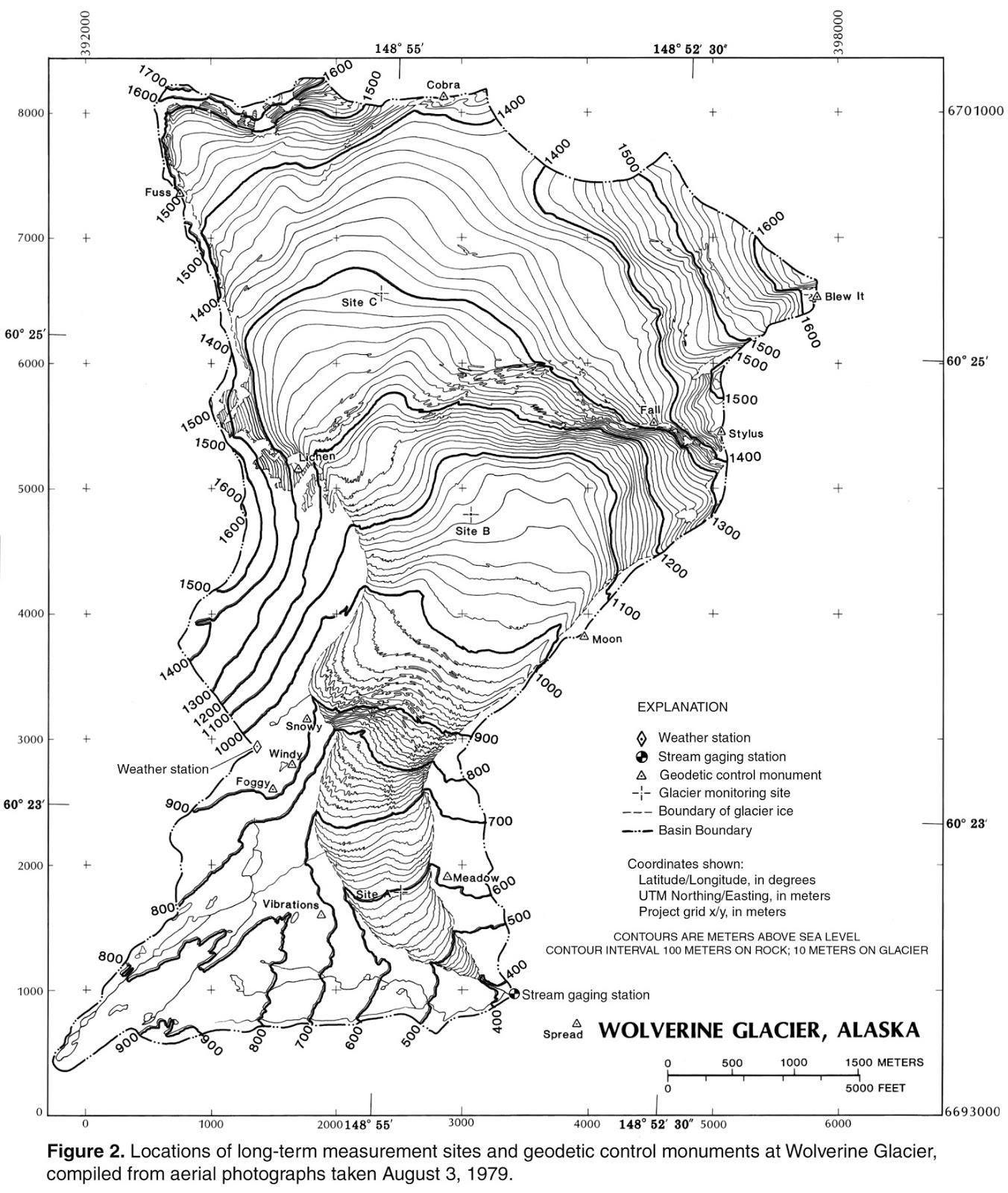 wolverine glacier topographic map