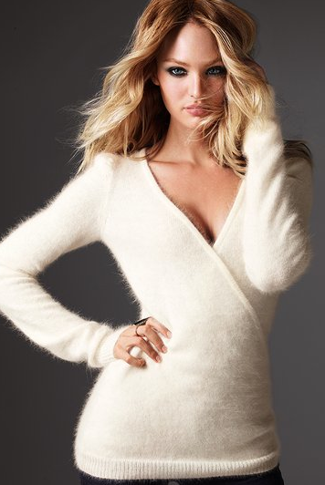 Sexy Angora Sweater - Gray Cardigan Sweater