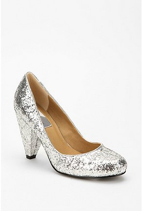 I haven 39t chosen a dress yet but I bought these silver glitter pumps to