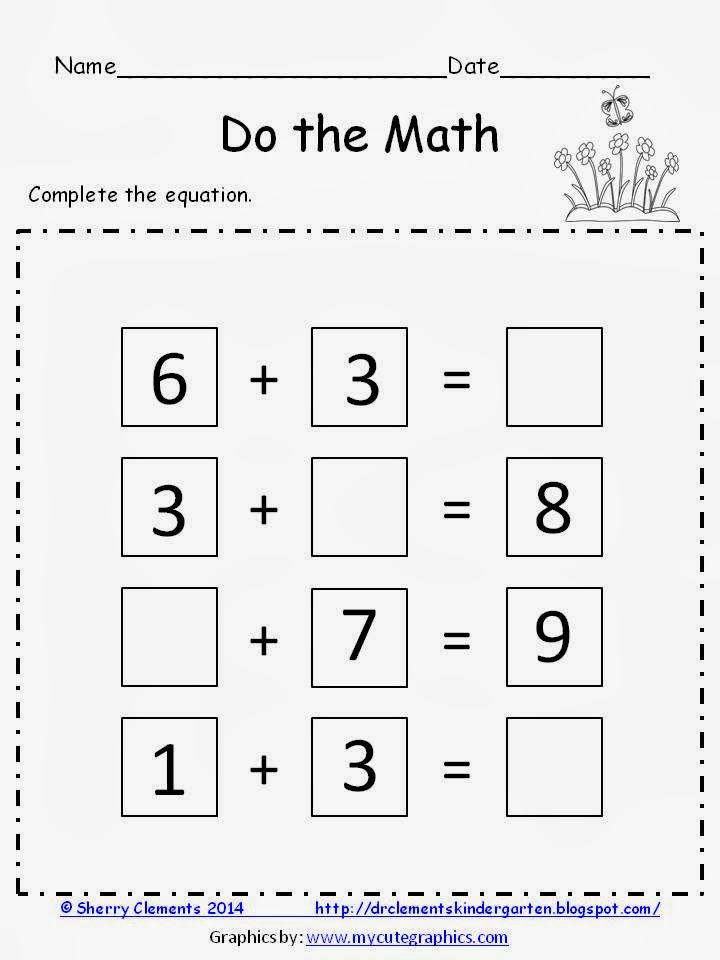 http://www.teacherspayteachers.com/Product/DO-the-MATH-FREEBIE-Complete-the-Equation-1150354