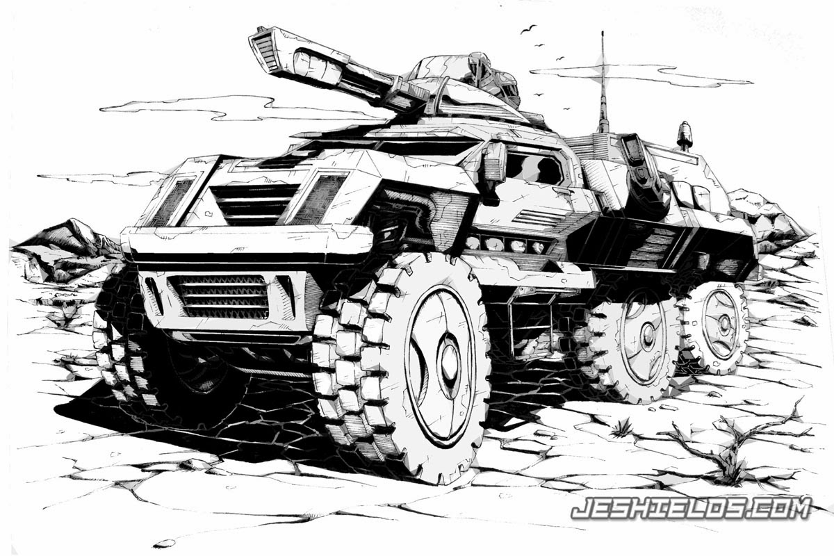 Sample Sci-Fi Vehicle Illustration