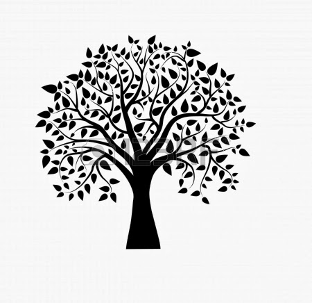 18392402-vector-tree-in-black-and-white jpgOak Tree Clip Art Black And White