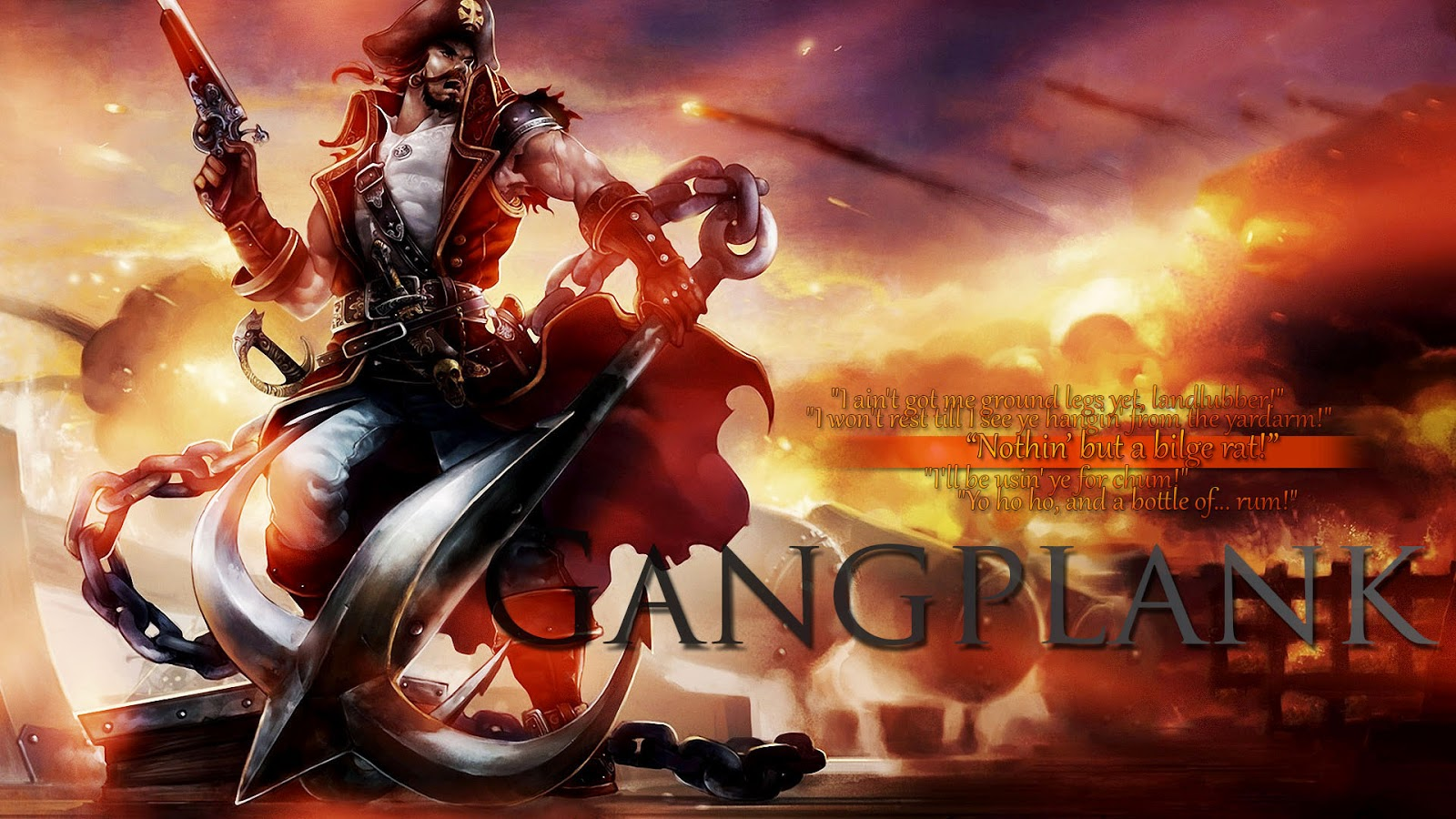 Gangplank League of Legends Wallpaper
