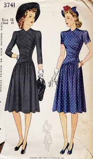1940s dress sewing pattern Just Peachy, Darling