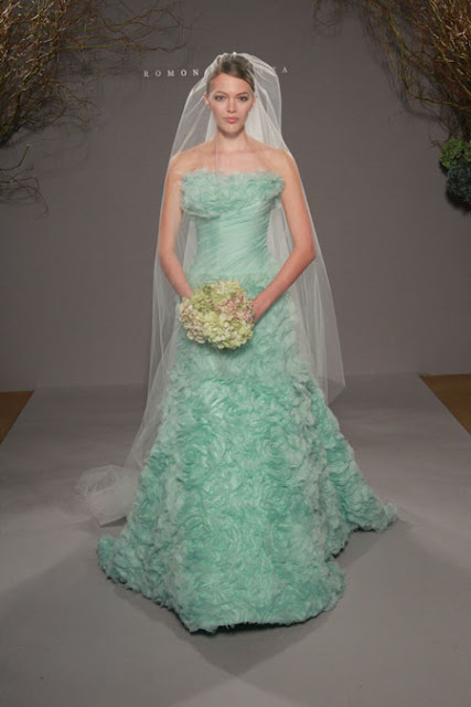 White Wedding Dress With Tiffany Blue Sash 86