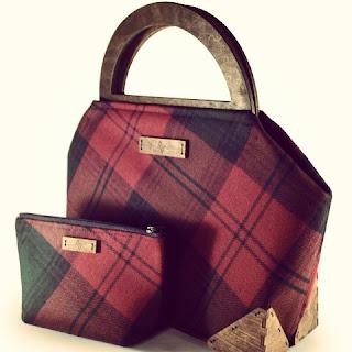 Custom Framed Lindsey Tartan Handbag