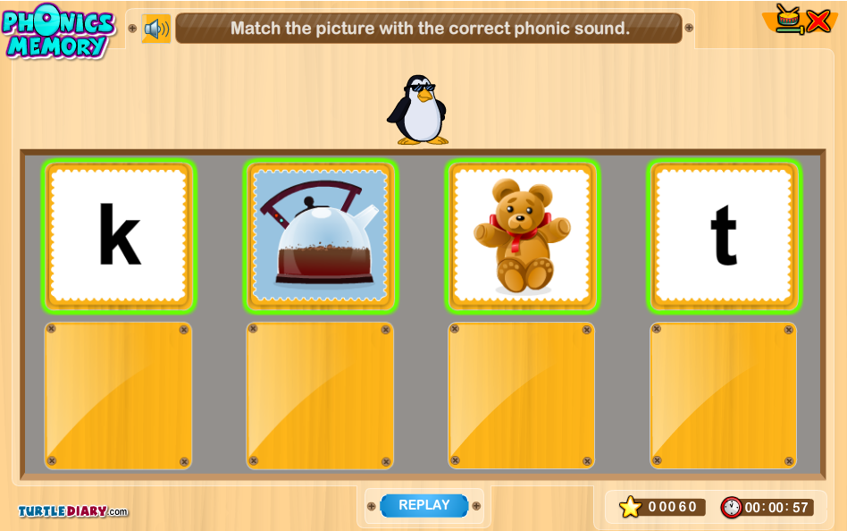 Phonic Sounds Game English Lions Phonics Game Phonics 5 Years Old