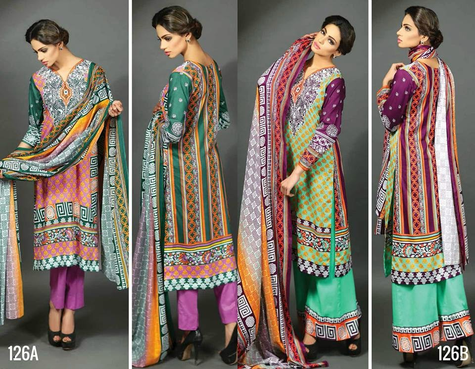 Latest Ajwa spring summer lawn collection 2015