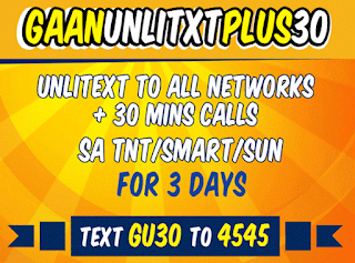 Talk N Text Gaan Unlitxt Plus, 3 days All-net Text for 30 Pesos