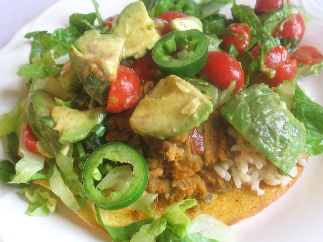 mung bean tostadas with toppings