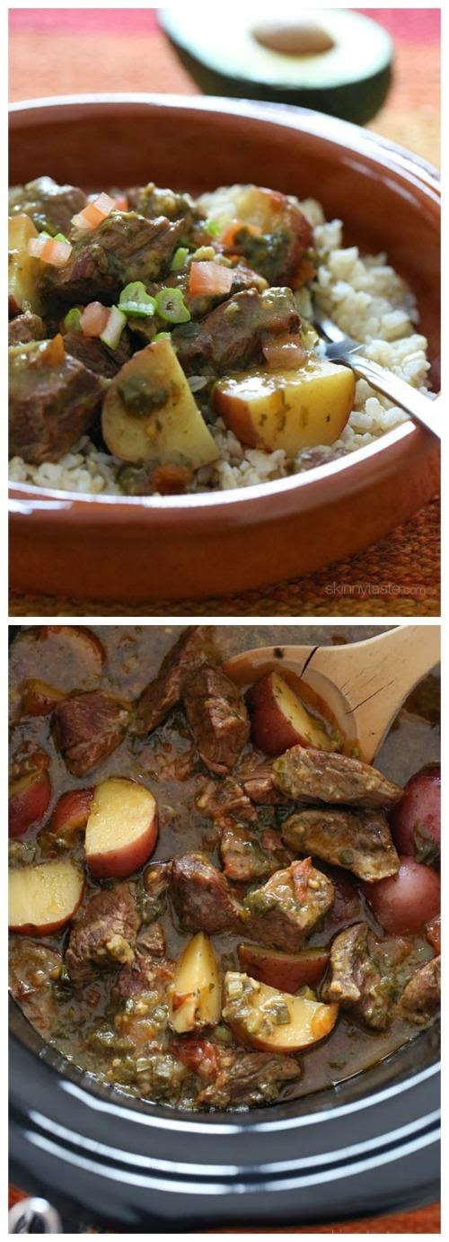 Crock Pot Carne Guisado (Latin Beef Stew) from Skinnytaste found on SlowCookerFromScratch.com