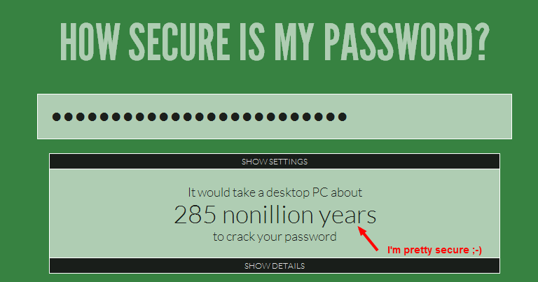 how to make sure your password is secure