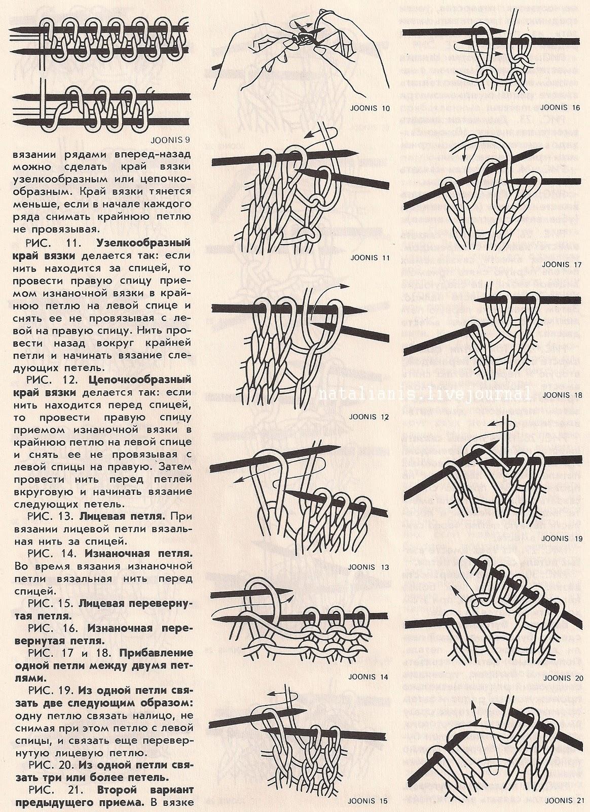 Вязание перевернутых петель