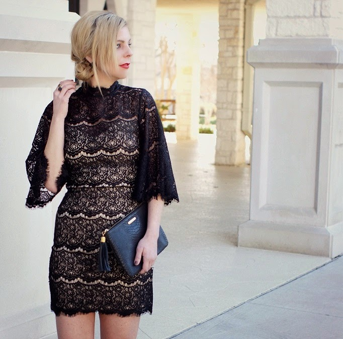 Valentine's Day Outfit Idea Black Lace Dress