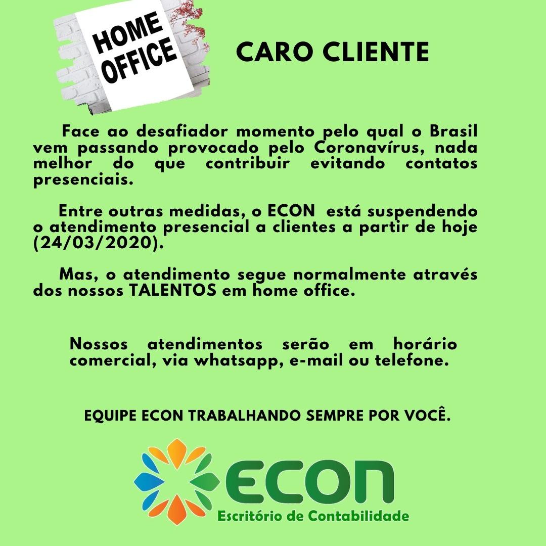 ATENÇÃO! INFORMATIVO ECON/PARELHAS