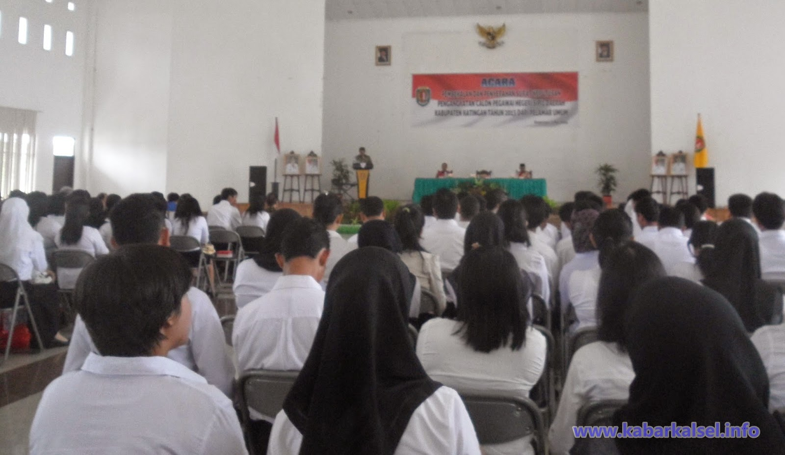 Penyerahan SK CPNS 2014 kabupaten Katingan