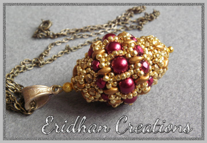 Eridhan creations beading tutorials queen of fire queen of ice beaded bead pattern aloadofball Images