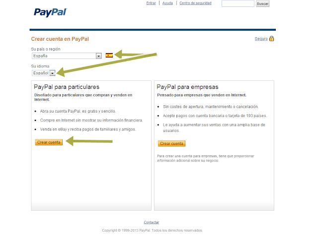 como crear una cuenta en paypal 2
