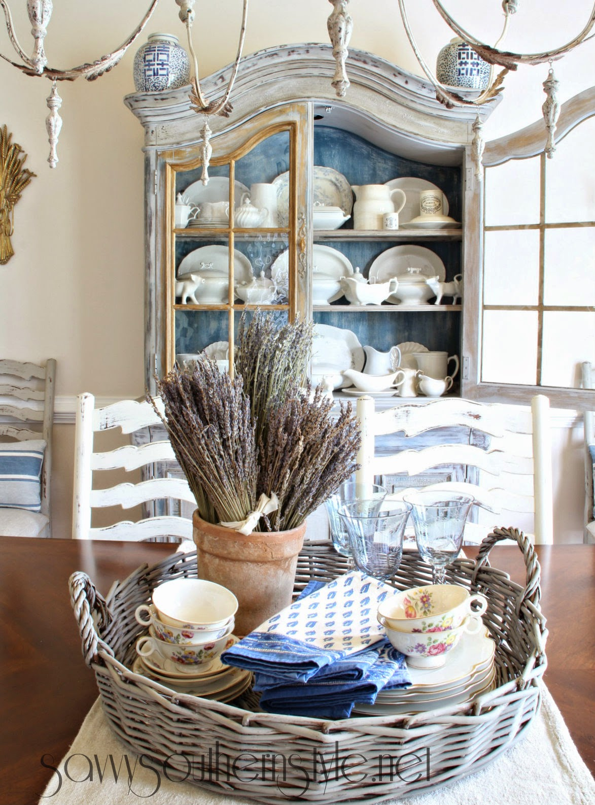 Savvy southern style country french centerpiece for French country decor
