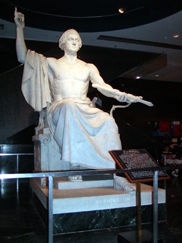 Statue of Zeus-Washington, the god of Big Bang