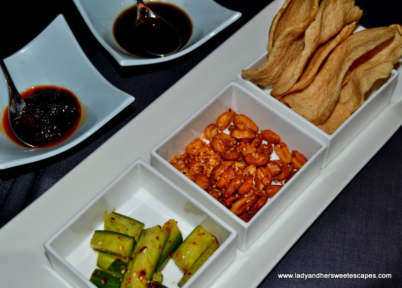 complimentary starters at Shanghai Chic