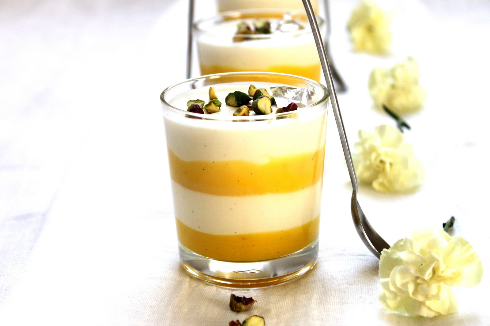 SoulCurry: Limoncello Panna Cotta with Saffron-Lemon Curd ...