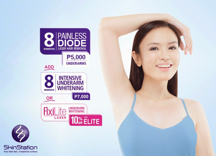 Painless Diode Underarm Laser Hair Removal from Skin Station