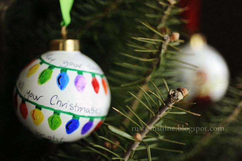 Monday, December 17, 2012 - Rust & Sunshine: 12 Days Of Christmas Ornaments - Day 11: Sharpie