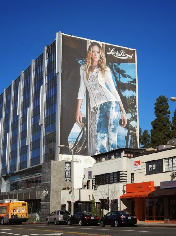 Giant Lucky Brand Jeans Raquel Zimmerman S14 billboard Sunset Strip