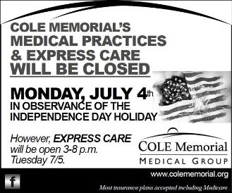 7-4 Cole Medical Offices & Express Care Closed