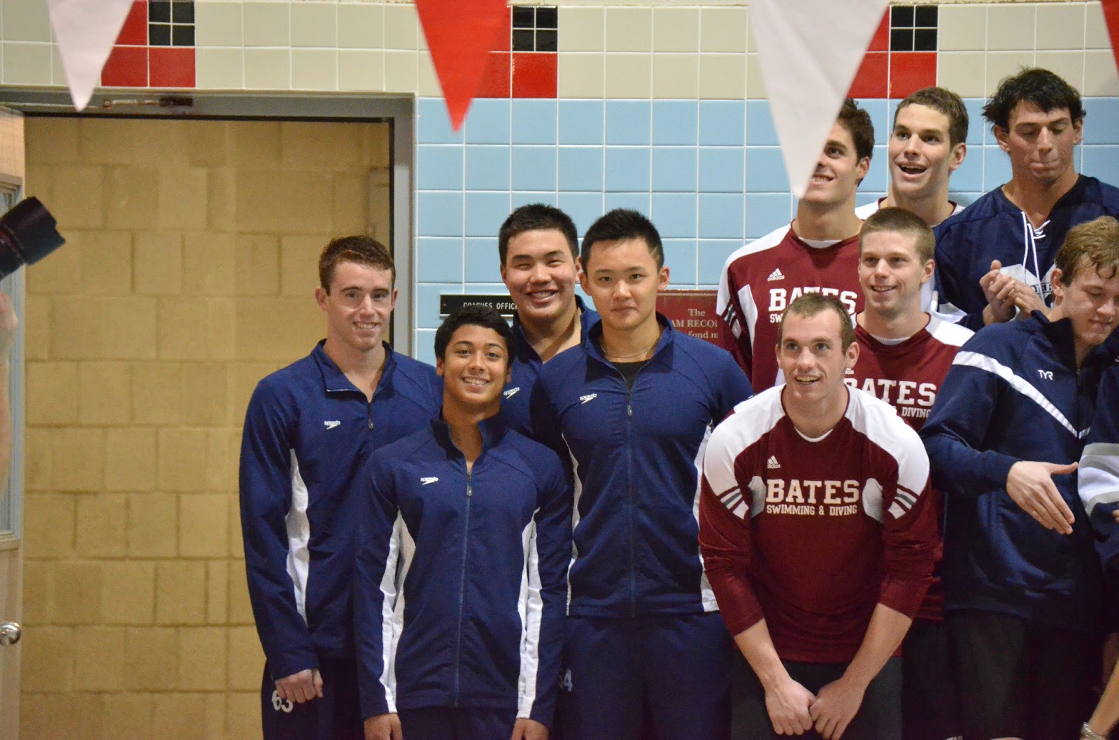 Trinity College Swimming Diving Nescac 39 S Day 1 400 Medley 50 Back 100 Back Records Fall