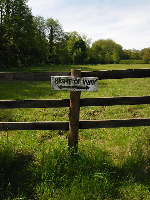Right of way sign - Clent Hills - Photography - Worcestershire