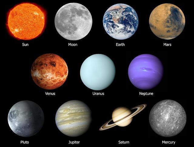 5 planet terlihat di angkasa